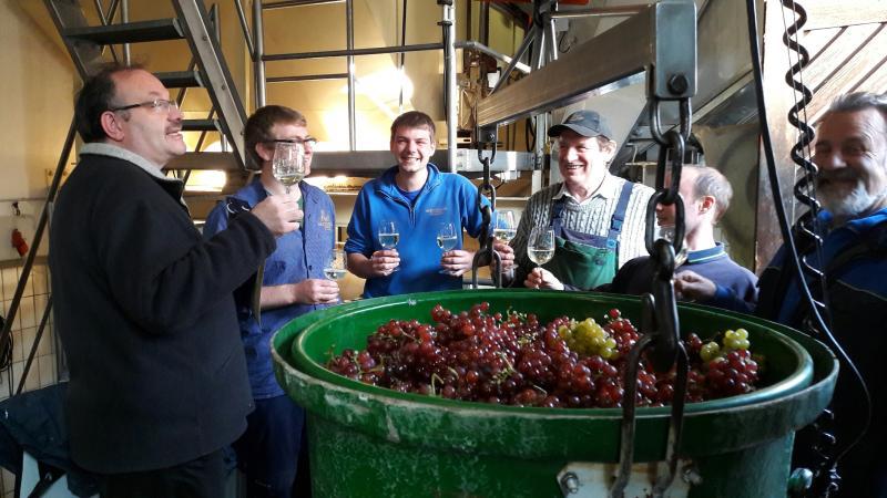 Stadtpfarrer segnet den Wein in Meersburg