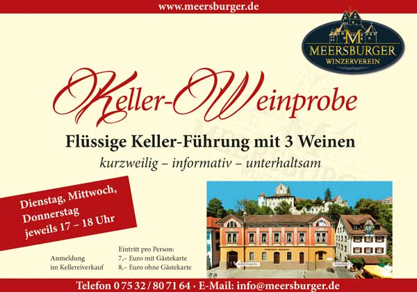 Keller-Weinprobe Winzerverein Meersburg