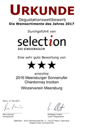 2016 Urkunde Selection Meersburger Chardonnay trocken