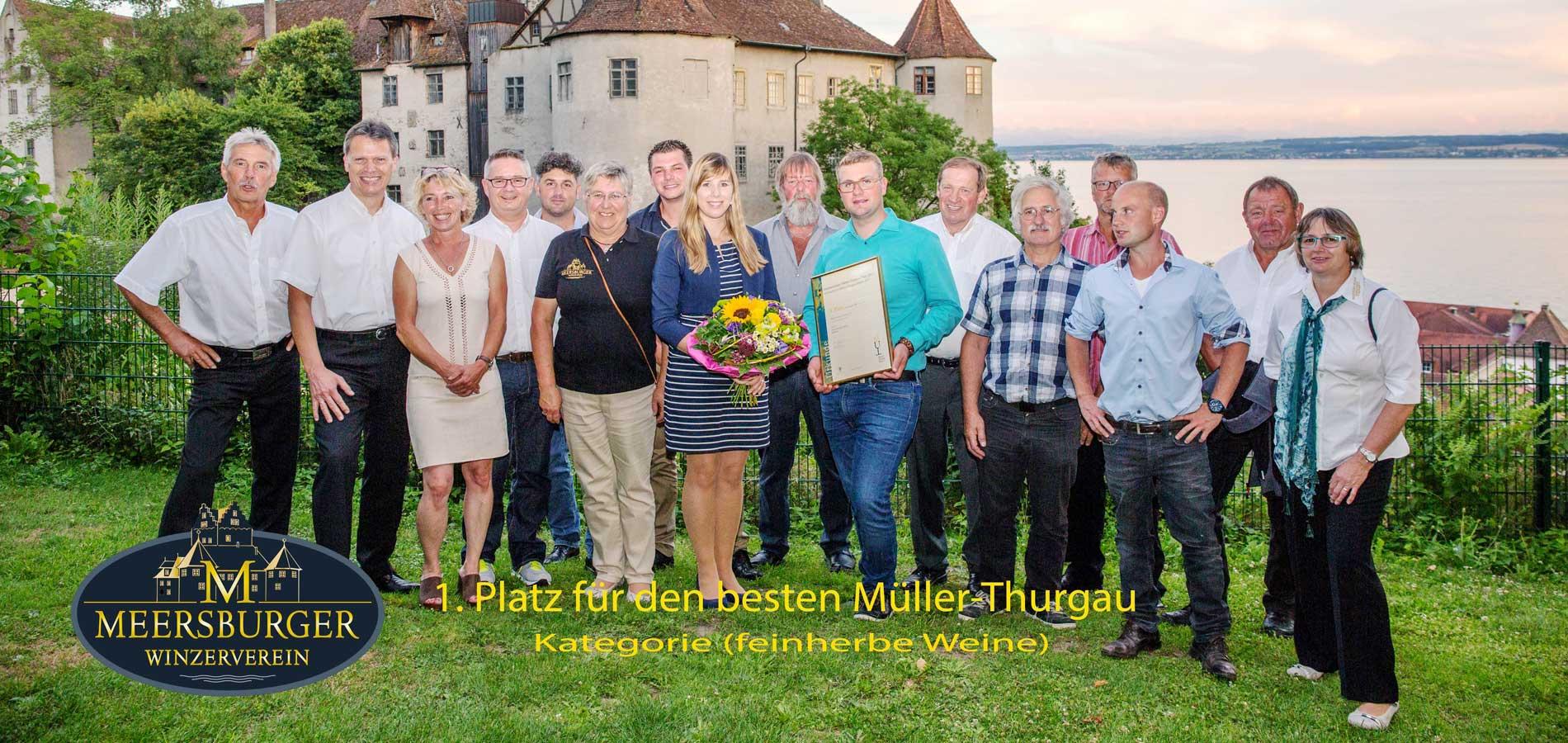 Winzerverein Meersburg 1. Platz für den besten Müller-Thurgau