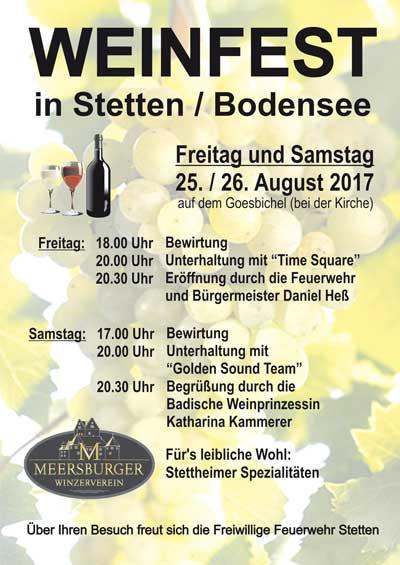 Weinfest in Stetten 2017