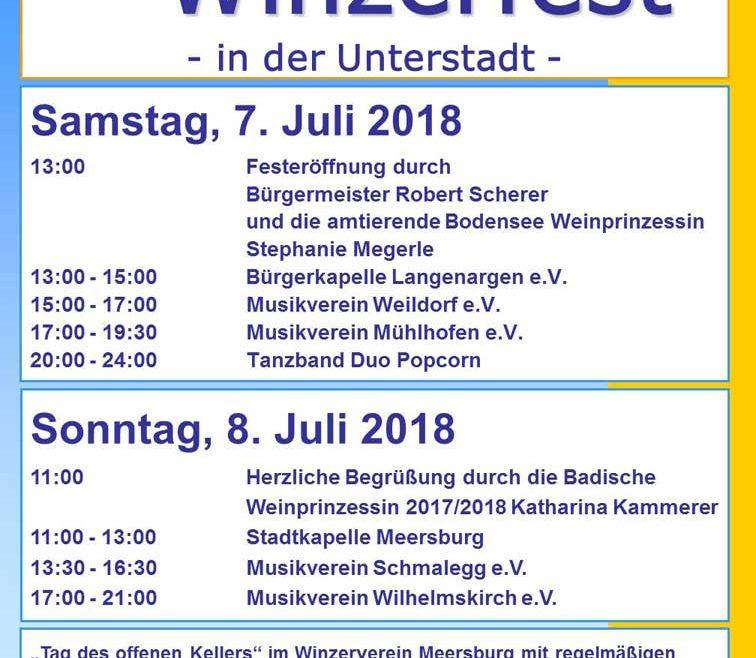 Plakat Meersburger Winzerfest 2018