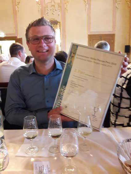 2. Platz beim Internationalen Müller-Thurgau-Preis 2018